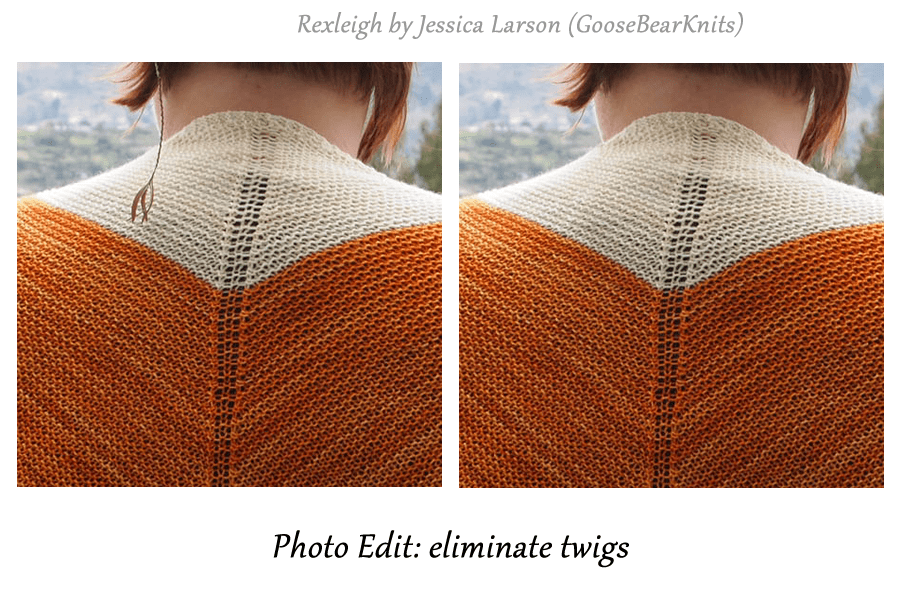 Rexleigh by GooseBearKnits before and after