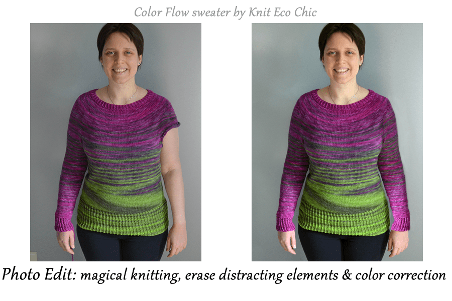 Magical knitting in photoshop