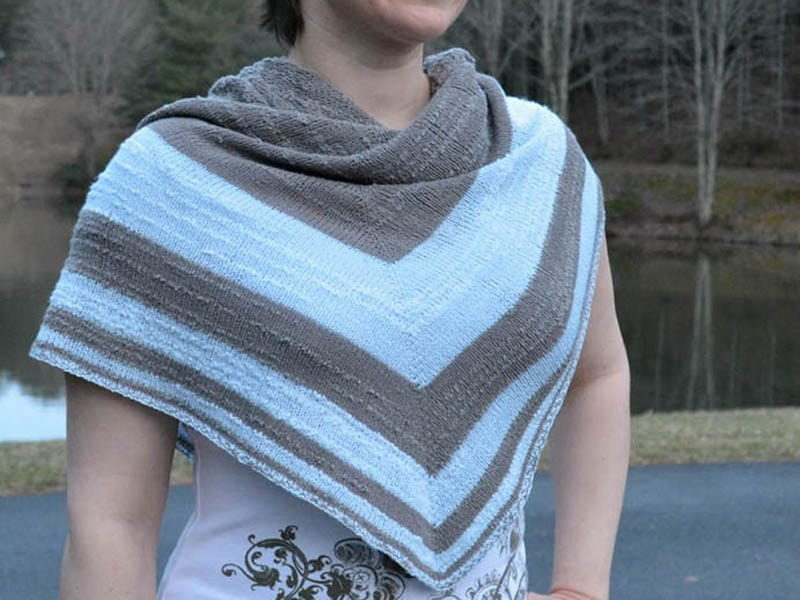 Fibonacci Drops Shawl without drops