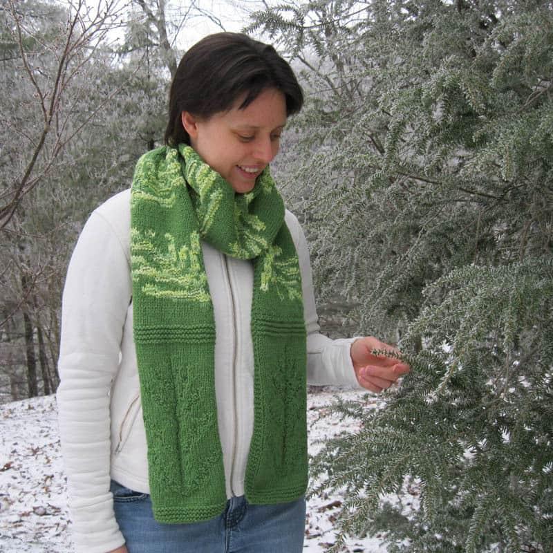 Evergreen Sprig Scarf