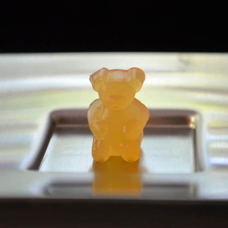 tummy soothing gummy on a plate