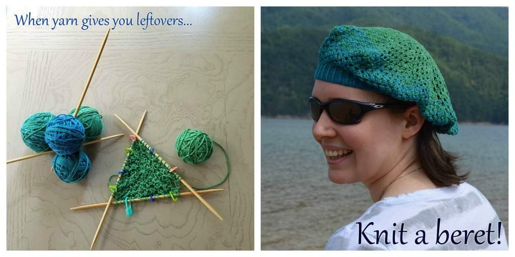when yarn gives you leftovers knit a beret