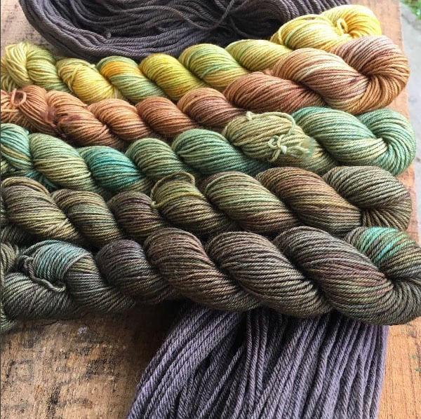 yarn in autumn colors