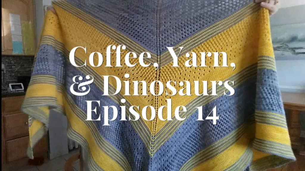 coffee, yarn, dinosaurs photo