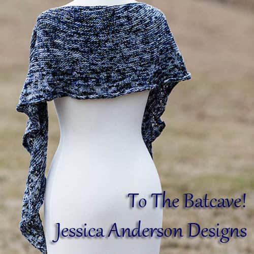 To the Batcave! shawl by Jessica Anderson