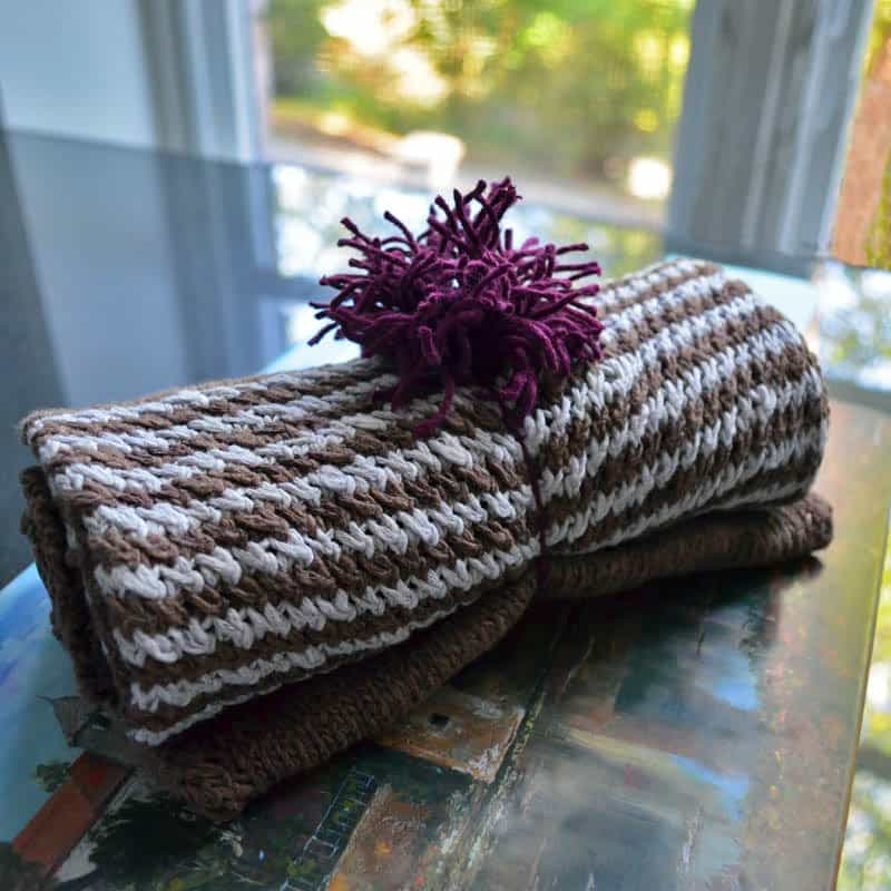 cowl in yarn gift wrapping
