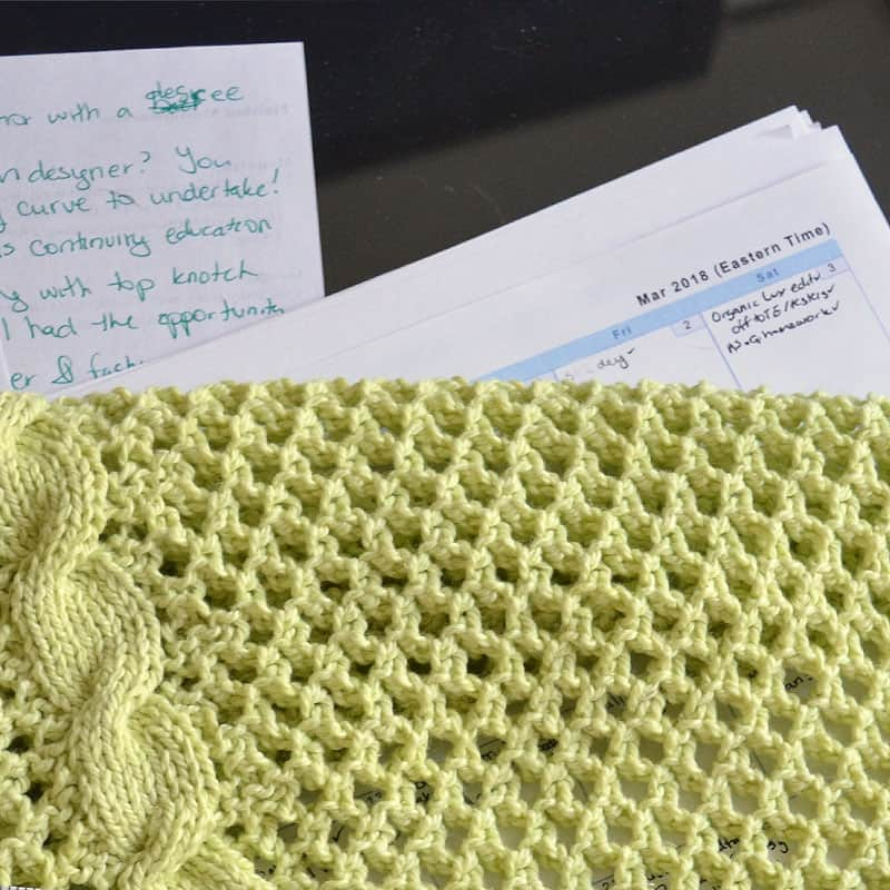 Chatting to the swatch turned cowl in March