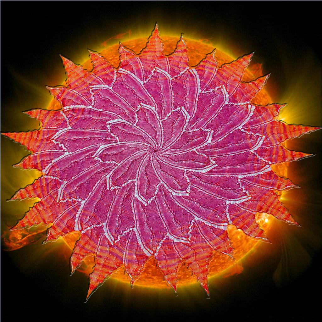 Solar Flare Circular Shawl in the sun