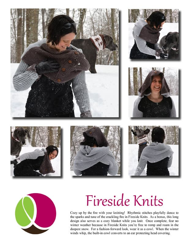 Fireside Knits pattern cover
