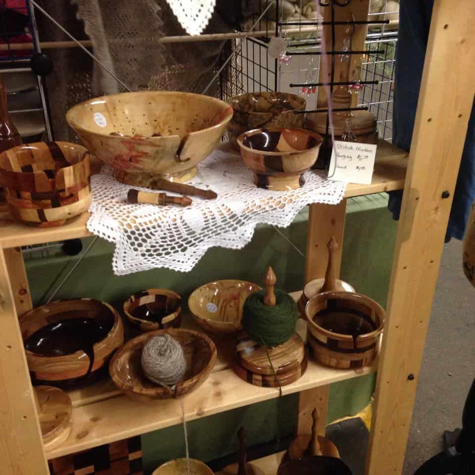 Festival display Whispering Woodturner