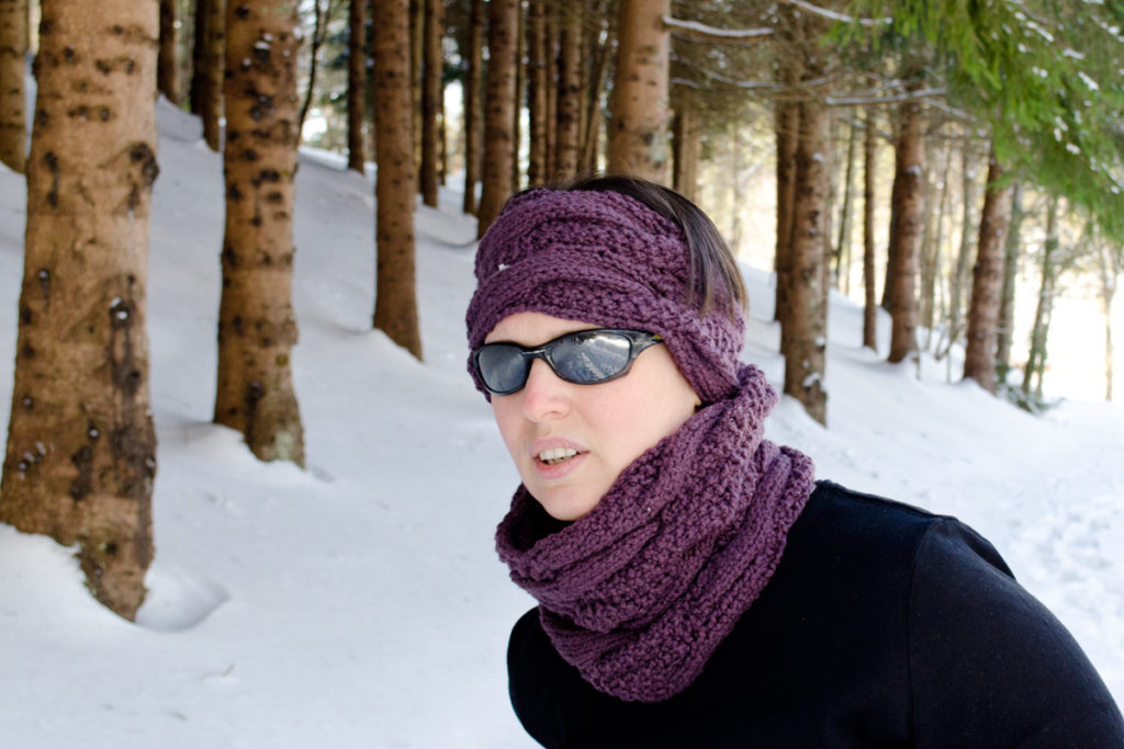 Arctic Climes cowl and headband