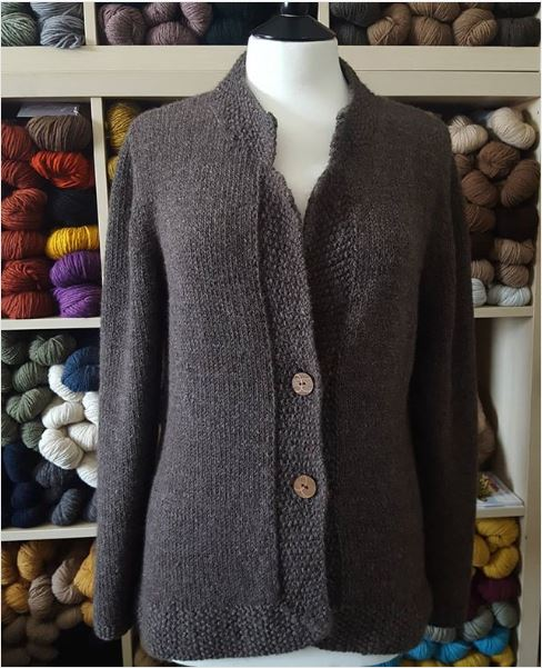 Kerstin sweater with KEC buttons