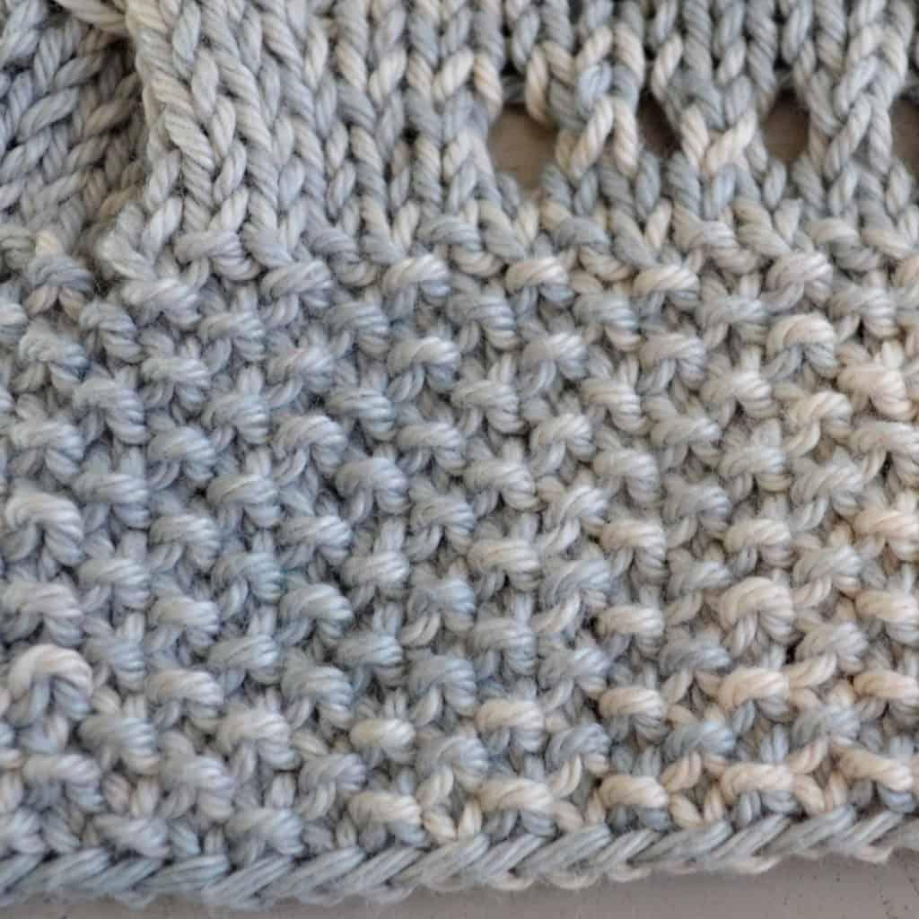 Seed stitch on Verano