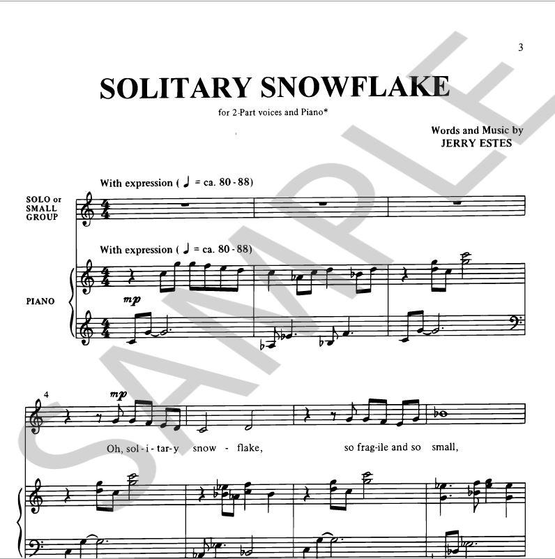 Solitary Snowflake Sheet music sample