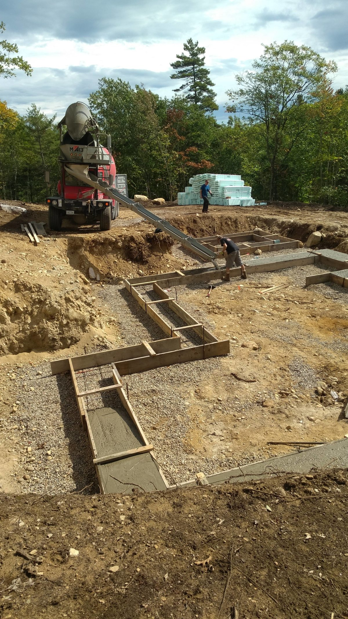 Meanwhile in Maine pouring footers